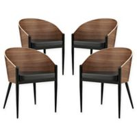 Modway Cooper Dining Chairs in Walnut (Set of 4)