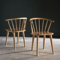 """Safavieh Blanchard 18"""" H Curved Spindle Side Chair in Natural"""