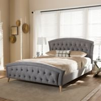 Hannah Platform Queen Size Bed in Grey