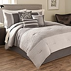 Hallmart Collectibles Theo 7-Piece Queen Size Comforter Set in Grey
