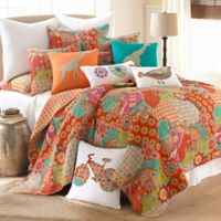Kumasi Twin Quilt Set in Red