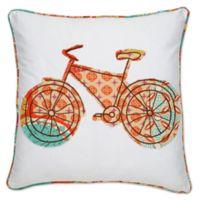 Kumasi Bicycle Square Throw Pillow