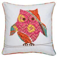Kumasi Owl Square Throw Pillow