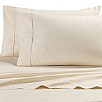 All Natural Cotton 500-Thread-Count Grid Queen Sheet Set in Natural