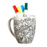Floral Accented Mug