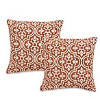 Ironside Square Throw Pillows in Rust (Set of 2)