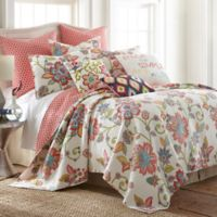 Levtex Home Amelie Reversible King Quilt Set in White/Red