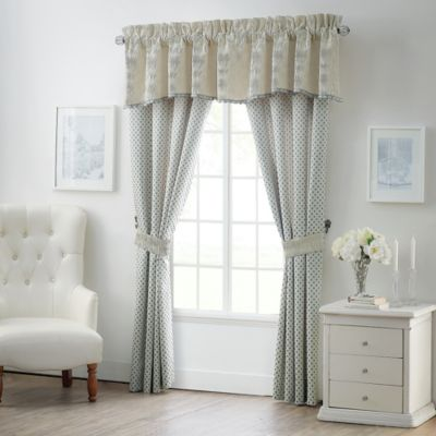 Waterford® Linens Allure 21 Inch Scalloped Window Valance In Ivory