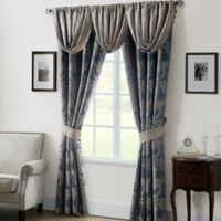 Waterford® Linens Chateau Lake 84-Inch Window Curtain Panel Pair in Slate