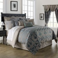 Waterford® Linens Chateau Lake Queen Comforter Set in Slate
