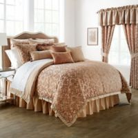 Waterford® Linens Margot Reversible Queen Comforter Set in Persimmon