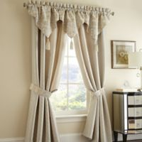 Waterford® Linens Olivette 87-Inch Rod Pocket Window Curtain Panel Pair in Ivory