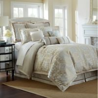 Waterford® Linens Olivette Reversible Queen Comforter Set in Gold/Ivory