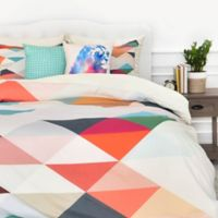 DENY Designs Three of the Possessed South Twin Duvet Cover in Red/White