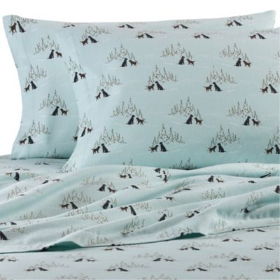 Exceptional Eddie Bauer® Dog Friends Twin Sheet Set In Light Blue
