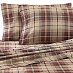 Eddie Bauer® Montlake Plaid Full Flannel Sheet Set in Red