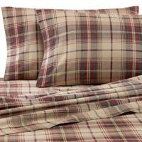 Eddie Bauer® Montlake Plaid Queen Flannel Sheet Set in Red