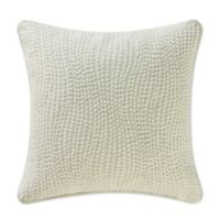 Waterford® Linens Allure Wavy Square Throw Pillow in Ivory