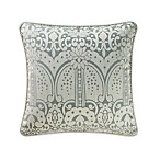 Waterford® Linens Allure Floral Square Throw Pillow in Ivory/Slate