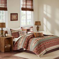 Madison Park Taos 7-Piece California King Comforter Set in Spice