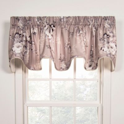 Chatsworth Scallop Window Valance In Grey