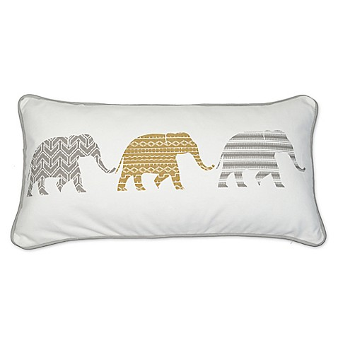 Elephant Throw Pillow Bed Bath And Beyond : Accra Almond 3 Elephant Rectangle Throw Pillow - Bed Bath & Beyond