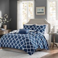 Madison Park Essentials Merritt 4-Piece Full/Queen Coverlet Set in Navy