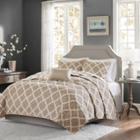 Madison Park Essentials Merritt 4-Piece Full/Queen Coverlet Set in Taupe