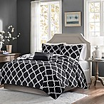 Madison Park Essentials Merritt 4-Piece King/California King Coverlet Set in Black