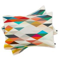 DENY Designs Three of the Possessed South Standard Pillow Shams in Red/White