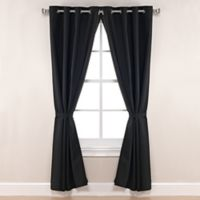Pawleys Island® Sunbrella® Canvas 84-Inch Grommet Top Outdoor Curtain Panel in Black