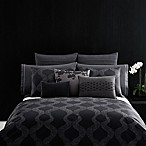 Vera Wang Home Scribble Queen Duvet Cover in Dark Purple
