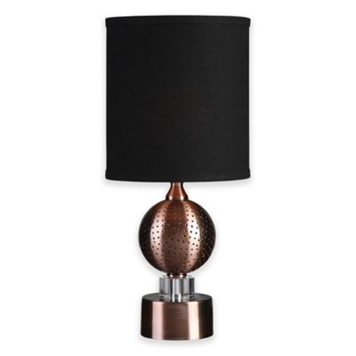 Uttermost Azle Table Lamp In Oxidized Copper With Linen Shade