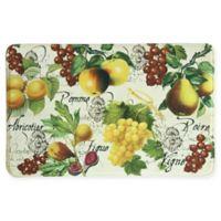 Bacova 22-Inch x 35-Inch Botanical Fruit Memory Foam Kitchen Runner in Beige