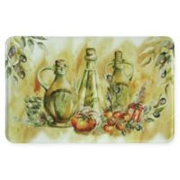 Bacova 23-Inch x 35-Inch Olive Oil Memory Foam Kitchen Runner in Yellow