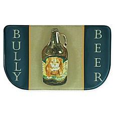 Bacova Bully Bear Memory Foam Kitchen Slice Rug In Navy