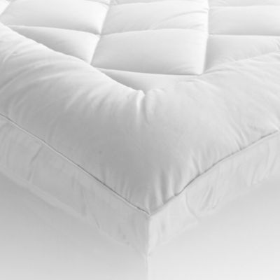 st james home 400thread count ultra queen mattress pad with gusset in white