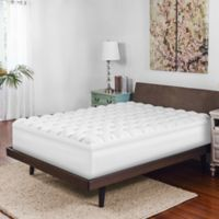 Therapedic® Twin Gel-Infused Baffle Box Memory Foam Mattress Topper in White