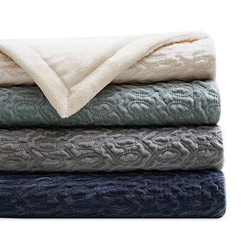 Regency Heights Quilted Velvet Throw Blanket Bed Bath Beyond
