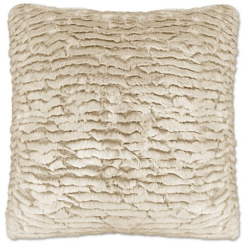 Envogue Decorative Pillows : Envogue Waterfall Artic Fox Square Throw Pillow in Beige (Set of 2) - Bed Bath & Beyond