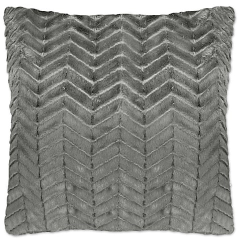 Grey Herringbone Throw Pillow : Herringbone Square Throw Pillows in Light Grey (Set of 2) - Bed Bath & Beyond