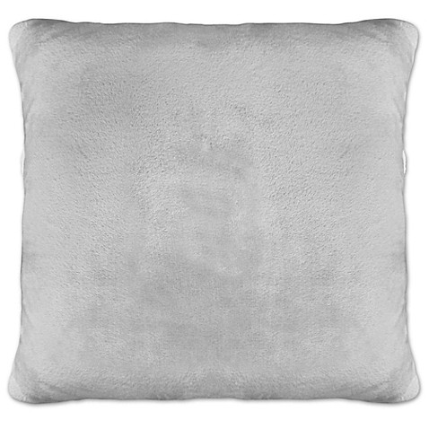 Envogue Decorative Pillows : Envogue Silver Fox Back-Printed Square Throw Pillows in Silver (Set of 2) - Bed Bath & Beyond
