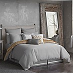 Seville Ottoman Rib Reversible Full/Queen Comforter Set in Grey