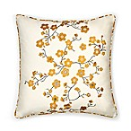 Seville Cherry Blossom 18-Inch Square Throw Pillow in Ivory