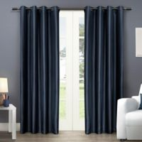 Exclusive Home Chatra 108-Inch Grommet Top Window Curtain Panel Pair in Indigo