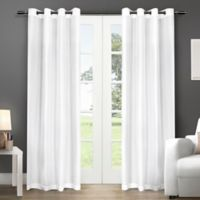 Exclusive Home Chatra 96-Inch Grommet Top Window Curtain Panel Pair in Winter