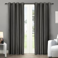 Exclusive Home Chatra 96-Inch Grommet Top Window Curtain Panel Pair in Black Pearl