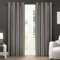 Exclusive Home Chatra 96-Inch Grommet Top Window Curtain Panel Pair in Silver