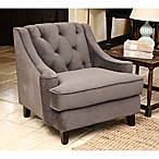 Abbyson Living® Emily Velvet Armchair in Grey