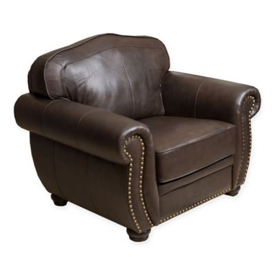 Abbyson Living Palazzo Leather Arm Chair